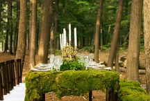 Medieval and dreamy table settings
