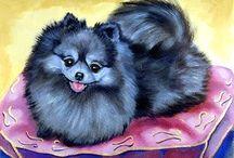 Pomeranian Dog Fine Art by Lyn / My artwork of the Pomeranian.