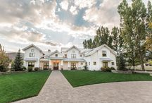 Midway Farms - Midway / Located in the heart of Midway, Utah, this beautiful craftsman style home is modeled after the modern day farmhouse. Designed with the family in mind, this home features ample play space- literally. With a playground area in the backyard, a huge pool complete with waterslide, and a barn garage for all the metal toys, Lane Myers Construction knows our clients feel right at home.