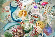The Mermaid's Song / http://shop.scrapbookgraphics.com/priss-the-mermaid-s-song-THE-KIT.html