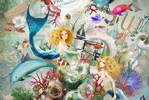 The Mermaid's Song / http://shop.scrapbookgraphics.com/priss-the-mermaid-s-song-THE-KIT.html