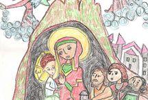 Лиза рисует