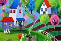 Art with donkeys
