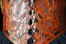 Carved leather