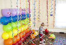 Party Ideas! / Children Cake photo backdrop girls boys invitations