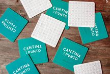 COASTERS / Styles of identity and graphic design: form, materials, and printing techniques