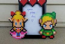 Perler bead picture frames