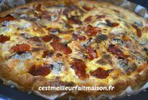 Tartes, pizza...