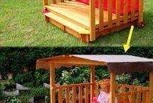 Ogród, domki dla dzieci