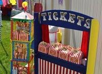 retro circus/ carnival birthday theme / by Brandy Rivera