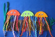 On the Beach and In the Sea / Felt Board Patterns and Sets