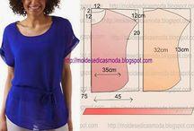 patrones de tunicas, blusas y vestidos