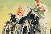 Old motorcycle posters