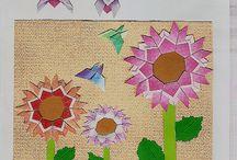 Virágos origami