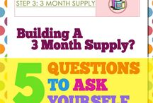 Step 3: Three Month Supply Plan / Plan your Three Month Supply of regular foods and figure out the best/cheapest way to stay stocked up.
