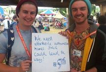 SNUG selfies / We asked people visiting us as Glastonbury 2014 why they wanted to to self-build?