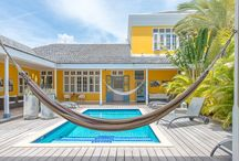 Plungepool in our tropical courtyard / In our courtyard, you will find a plunge pool with comfortable sun chairs around it. Of course we provide you with your pool towel.