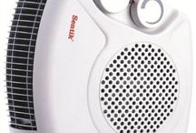 Electric Fan Heater Portable Floor Silent Thermostat Space Hot Cool Flat Upright