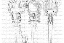 dibujos muñecas