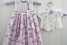 Örgü çocuk elbiseleri