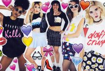 TRRBL MVMNT X THE FABULOUS STAINS / Emoji Awesomeness from The Fabulous Stains and Terrible Movement. We love this real, deal Girl Gang.
