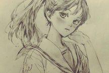 Sketch manga anime drawing