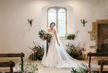 Dramatic Dark Hues Wedding Styling at Brympton House