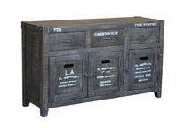 Rough Mango Black Industrial Furniture