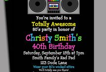 invitation 60 70 80's