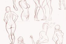 Poses inspirations / Poses to study anatomy and dinamic draws