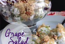 Grape  and Cream. Salad