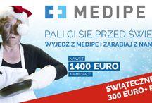 Świąteczne premie dla Opiekunek osób starszych - 300€ brutto / Pali Ci się przed Świętami? Wyjedź z MEDIPE i zarabiaj z nami!