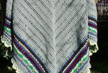 Shawl knit crochet