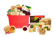 Personalized Bins of Books / Grab one of these personalized bins of books for the next baby who comes into your life.