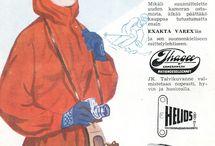 Talviurheilu-mainokset / #vanhatmainokset #talvi #urheilu #hiihto #winter #sports #advertising