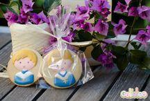 Detalles de Comunión / Galletas personalizadas para regarle a los invitados. http://www.galletea.com/mundo-galleta2.php?init&tema=18