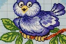 CROSS STITCH ❤️ BIRDS  &  TREES