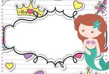Tarjetas Princesas