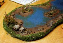 mini garden- terrain / ideas for miniature scenes