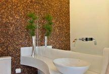 Lavabos Decorados e Modernos! / Veja + Inspirações e Dicas de decoração no blog!  www.construindominhacasaclean.com
