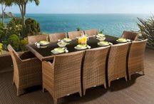 Outdoor Garden Patio Decking Rattan Dining Sets
