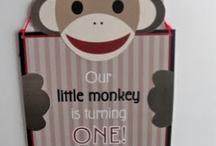 Andrew's Sock Monkey 1st Birthday