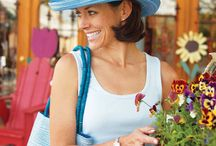 Women's Hats - The Sydney / Lightweight, cool and always elegant. The Sydney is woven together into a thin, breathable acrylic braid that coils into a circular crown. Choose from these subtle colours - red, seafoam, ivory and light blue. Hand washable and of course UPF50+  www.sunhats.co.za