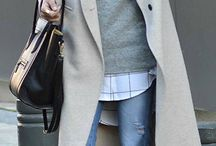 Grey coat outfits