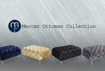 Mercer Ottomans / With top quality velvet, these modern tufted Mercer Ottomans are perfect accents to any room!