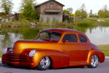 1948 Chevy Coupe Customs / Check out this custom 1948 Chevy Coupe built by CCC.  This car features major body modifications, including, modified front fenders with Mini-Cooper headlights, a hand-molded grill and lower roll pan with recessed turn signals, a molded trunk panel, shave door handles, pop-up gas tank door, and integrated third-break light.