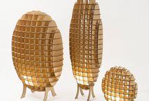 Objets en bois / Créations originales et design en bois. Des idées et des réalisations extraordinaires.