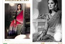 Heroine brand Sarees / Romantic collection by brand heroine from Jinaam house