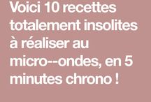 recettes micro ondes
