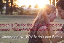 2015 & 2016 Make a Wedding Wish Come True / http://nrvbridalsandevents.org/questionaire-make-a-wedding-wish-come-true/